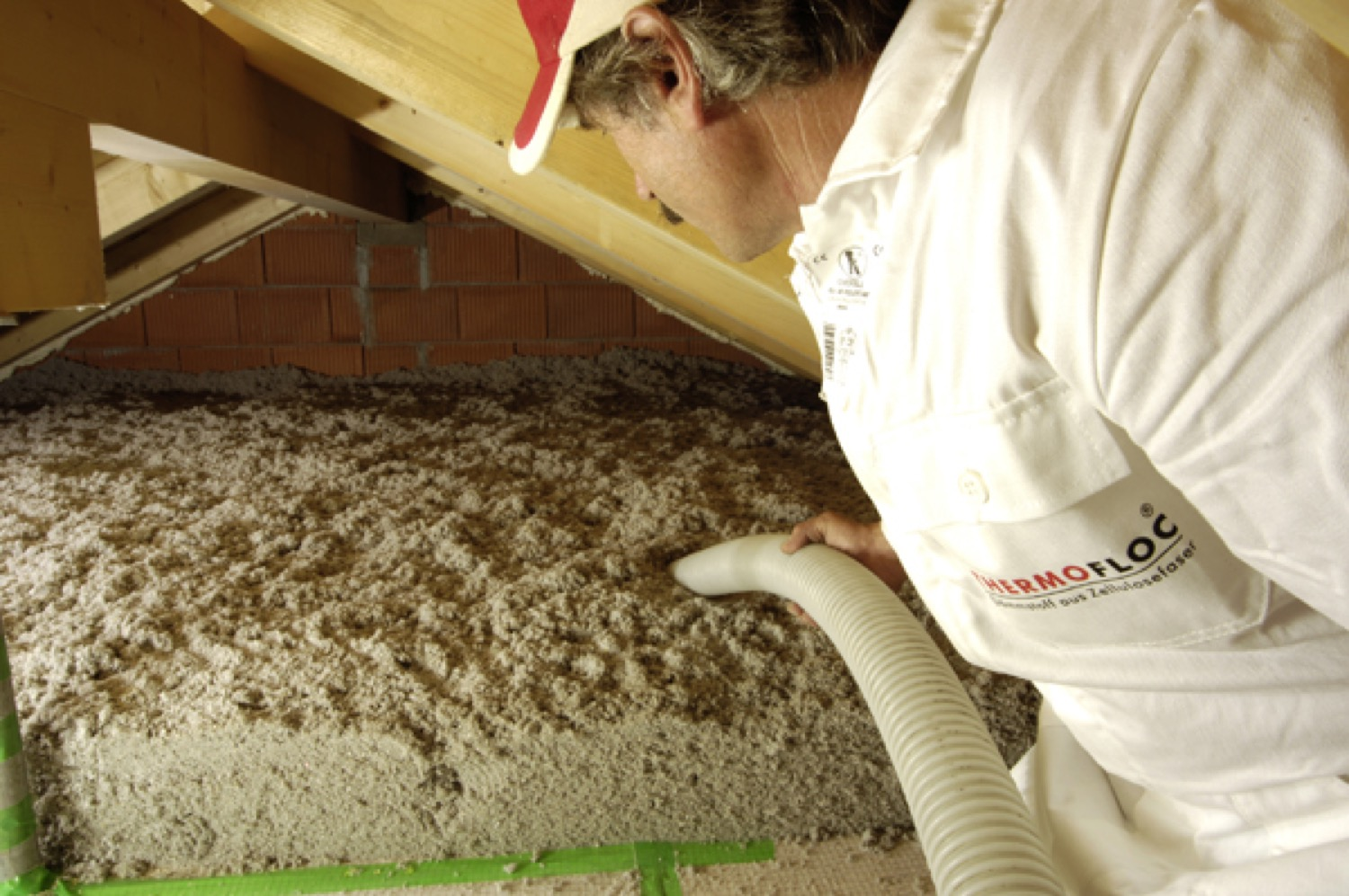 Befújható cellulóz tetőszigetelés